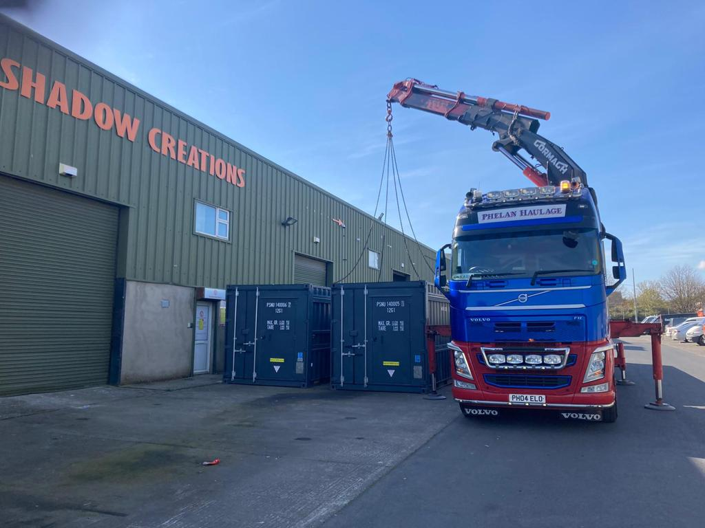 Shipping Container Kiosk Transport – England To Ireland